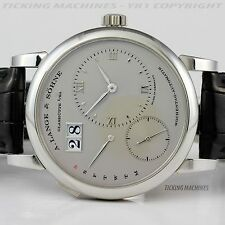 A. Lange & Sohne Lange 1 Daymatic Automatic in Platinum Ref. 320.025 Large 40mm