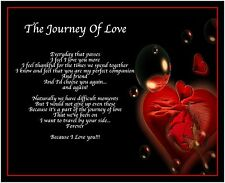 Personalised Journey Of Love Poem Birthday Valentines Day Gift Present