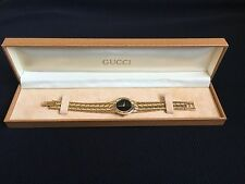 AUTHENTIC Gucci 3300L Ladies Black Dial Watch New Battery