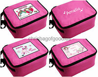 PERSONALISED GIRLS Insulated LUNCH Cool Bag Sandwich Box for School lunchbox kid