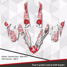 *NEW* SLED GRAPHIC KIT GRAPHICS WRAP FOR YAMAHA APEX 2006-2011 20015