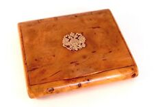 Imperial Russian a Presentation Wooden Cigarette Case by Faberge