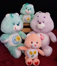 Lot of 4 Vintage 1983 Care Bear Plush Stuffed Animals Share Friend Bedtime