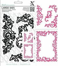 DOCRAFTS XCUT LEAFY FLOURISHES LARGE CUTTING DIES - NEW UNIVERSAL FIT