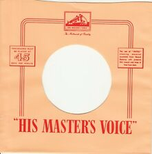 1 FIRMENLOCHCOVER * HIS MASTER`S VOICE * UK *Repro COVER *NEU* Single Aufwertung