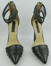 LAMB Women's Black Leather Ankle Strap High Heels Shoes sz: US 8.5