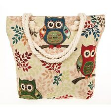 equilibrium womens tote owl beach carry handbag summer holiday shopping tapestry