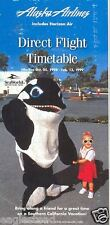 Airline Timetable - Alaska - Horizon Air - 25/10/98 - Sea World Cover