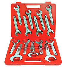 15pc GRIP Metric Service Wrench Set Farmer Style 20mm - 36mm MM Jumbo 90170 STD
