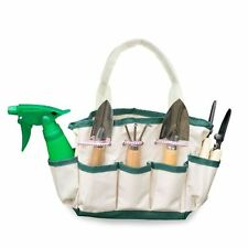 GardenHOME ❂ 7 Piece Small Stainless Steel Garden Tools Canvas Tote Indoor Plant