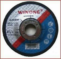 """115mm x 6mm METAL GRINDING DISC 10pc FOR 4 1/2"""" ANGLE GRINDERS FREE POSTAGE"""