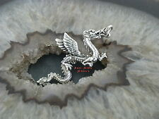 Gothic Silber Ketten Anhänger DRACHEN DRAGON Massiv Silber 925
