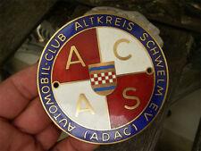 ADAC-ACAS AUTOMOBILE CLUB Altkreis Schwelm-PLACCA BADGE EMBLEMA