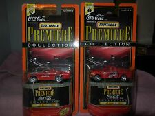 2 1998 matchbox premiere coca-cola cars 97 ford f-150 and 70 el camino