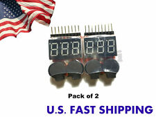 1-8S Lipo Battery Tester/Low Voltage Buzzer Alarm (Pack of 2)