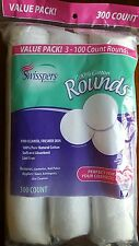 2-300 Swisspers Cotton Rounds, 300 each pack 2 packs=600 cotton rounds