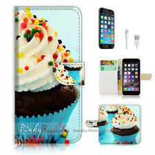 iPhone 6 (4.7') Flip Wallet Case Cover! P1061 Cup Cake