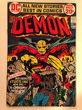 THE DEMON (1972) 1  1ST APPEARANCE AND ORIGIN OF ETRIGAN THE DEMON JACK KIRBY VF