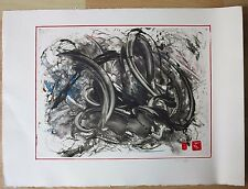 David Chamberlain 1994 monotype abstract expressionist painting