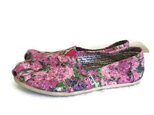 TOMS Womens loafers flats fabric shoes 7.5 W Floral