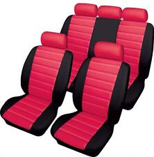 RED/BLACK CAR SEAT LEATHER LOOK FRONT & REAR COVERS for PEUGEOT 206CC 00-06