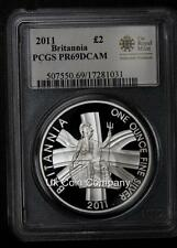 Britannia 1oz Silver Proof 2011 Two Pounds £2 Coin Certified By Psgs PR69