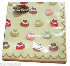 Laduree Paris MACARON French Gift Napkins Caspari New