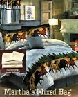WESTERN HORSES EQUESTRIAN Blue BEDDING COMFORTER SET KING QUEEN FULL TWIN SIZES