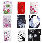 26 Credit Oyster Multi-Flower Design Card Business ID Wallet Holder Real Leather
