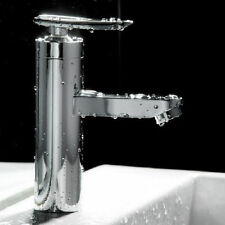 Brushed Chrome Waterfall Bathroom Basin Faucet Single Handle Sink Mixer Tap DO