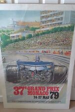 Monaco F1 poster 1979, sports, 100 by 68cm, cars, formula 1, racing cars.