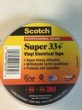 3M Scotch Super 33+ Vinyl Electrical Tape Roll Black BRAND NEW