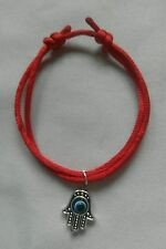 Hamsa Hand Fatima Charm Red STRING KABBALAH LUCKY BRACELET Against Evil Eye