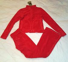 Juicy Couture terry tracksuit set with top and pants size Large
