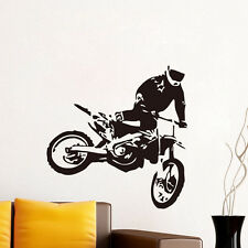 Motocross Driver Decal Motorcycle Racer Vinyl Wall Sticker For Home Living Room