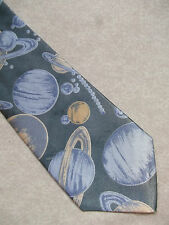 SOLAR SYSTEM MENS TIE COSMOS SATURN SPACE ASTRONOMY ASTROPHYSICS PLANET NEW