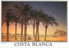 Costa Blanca Playa de Poniente Benidorm Spain Beach Shores   Postcard  # 7504