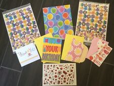 CURRENT Smiley Face & Ladybug Stickers + Gift Wrap-Birthday & Thank You Cards