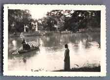 Vietnam, Le Mékong  Vintage silver print.  Tirage argentique d'époque
