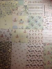 16 FOGLI DEGUSTAZIONE 8 x 8 prima edizione it's a Boy baby Card Making Supporto Carta