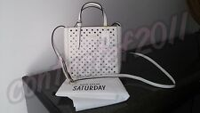 SALE! Kate Spade Saturday WHITE/BLACK MINI Perforated Tote NEW WITH TAGS!