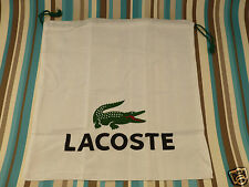 Canvas gift dust bag Lacoste X-large drawstring white cotton storage bags new
