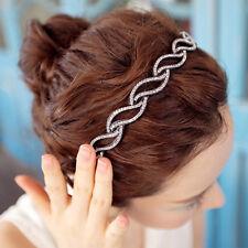 Korea Style Rhinestone Crystal Jewelry Hair Band Hoop Headband For Women Lady