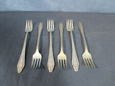 International Silver Flatware Silverplate Grill Forks Modern Rose Vtg 1949 Set 6