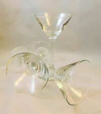 Long Stemmed Martini Glass SET of 3 Tea Light Votive Candle Holders