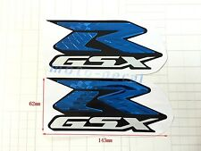 New Raised 3D Chrome Suzuki GSXR1000 GSXR750 GSXR600 Emblem Bling Blue Decal