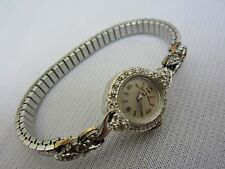 Lady Elgin 23jewel 14k White Gold Diamond Watch