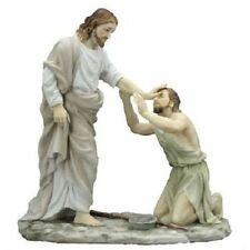 10.5 Inch Jesus Healing the Blind Christ Statue Figurine Religious Decor Cristo
