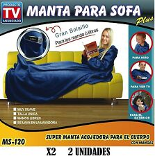 2X BATAMANTA PLUS MANTA CON MANGAS PARA SOFA SILLON FRIO ANUNCIADO EN TV COLORES