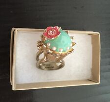 THE ORIGINAL FITTED Betsey Johnson Tea Party Princess Mouse Cupcake Charm Ring